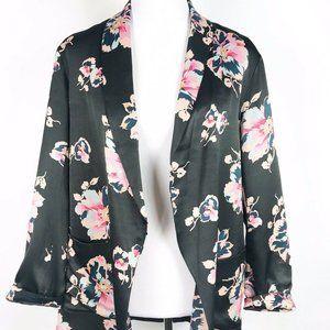 Ett Twa Anthropologie Tavie Floral Satin Jacket XS